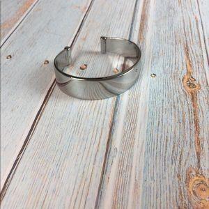 Chico's Silver Thick Cuff Bracelet